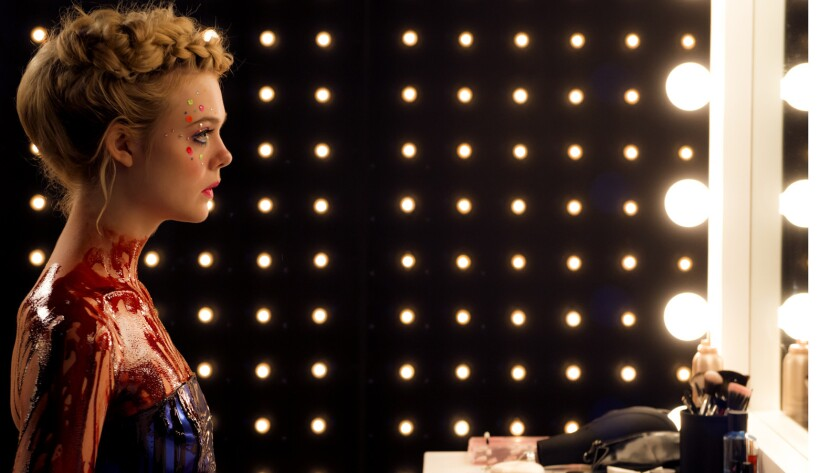 """Elle Fanning in the movie """"The Neon Demon."""""""