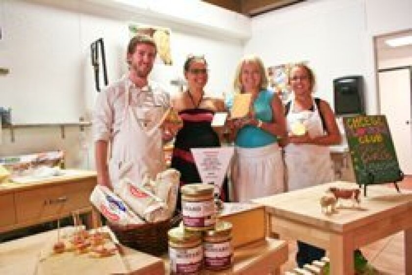 Andy McNamara, Rebecca Gould, Gina Freize and Cat Charpentier in the new Venissimo cheese shop. Photo/Claire Harlin