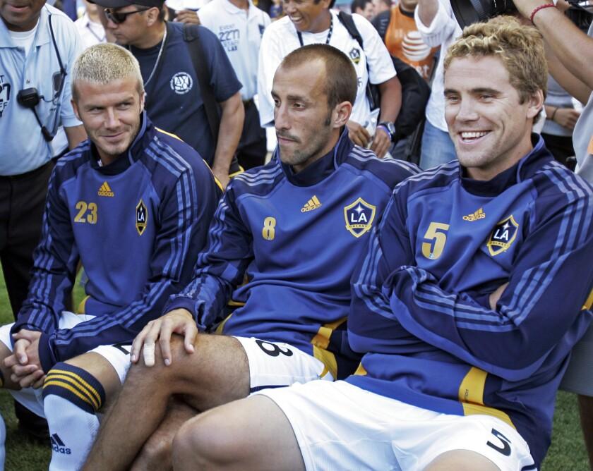 David Beckham, Peter Vagenas, Chris Albright