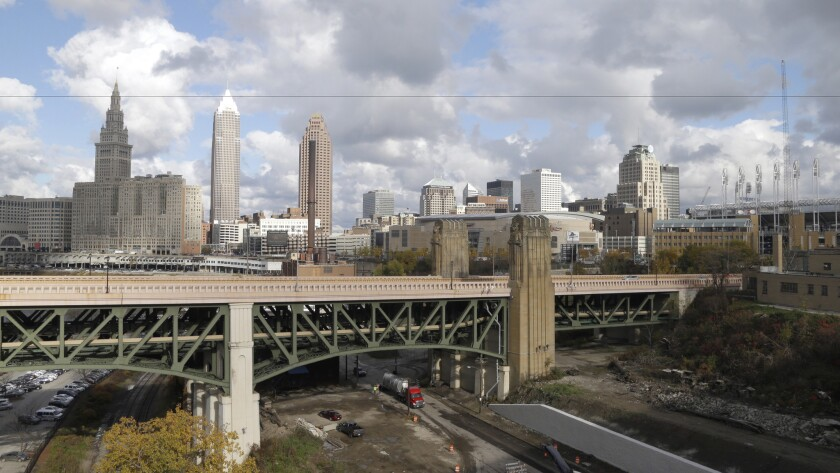 A view of downtown Cleveland. The city will host the Republican National Convention next month.
