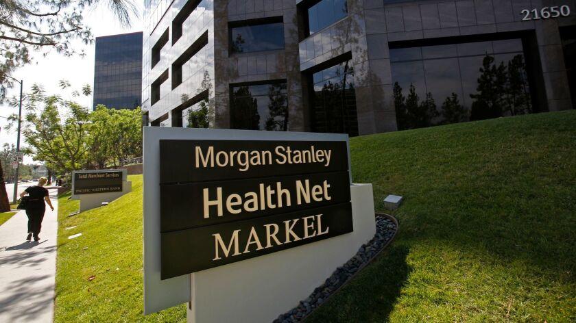 WOODLAND HILLS, CA. - JULY 2, 2015: Corporate headquarters of insurer Health Net Inc. in Woodland Hi