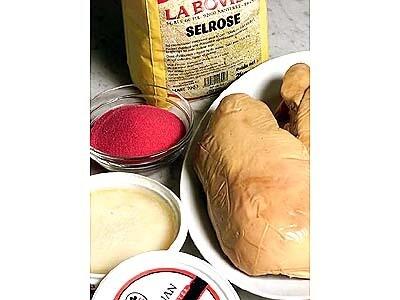 Duck fat, pink salt and foie gras