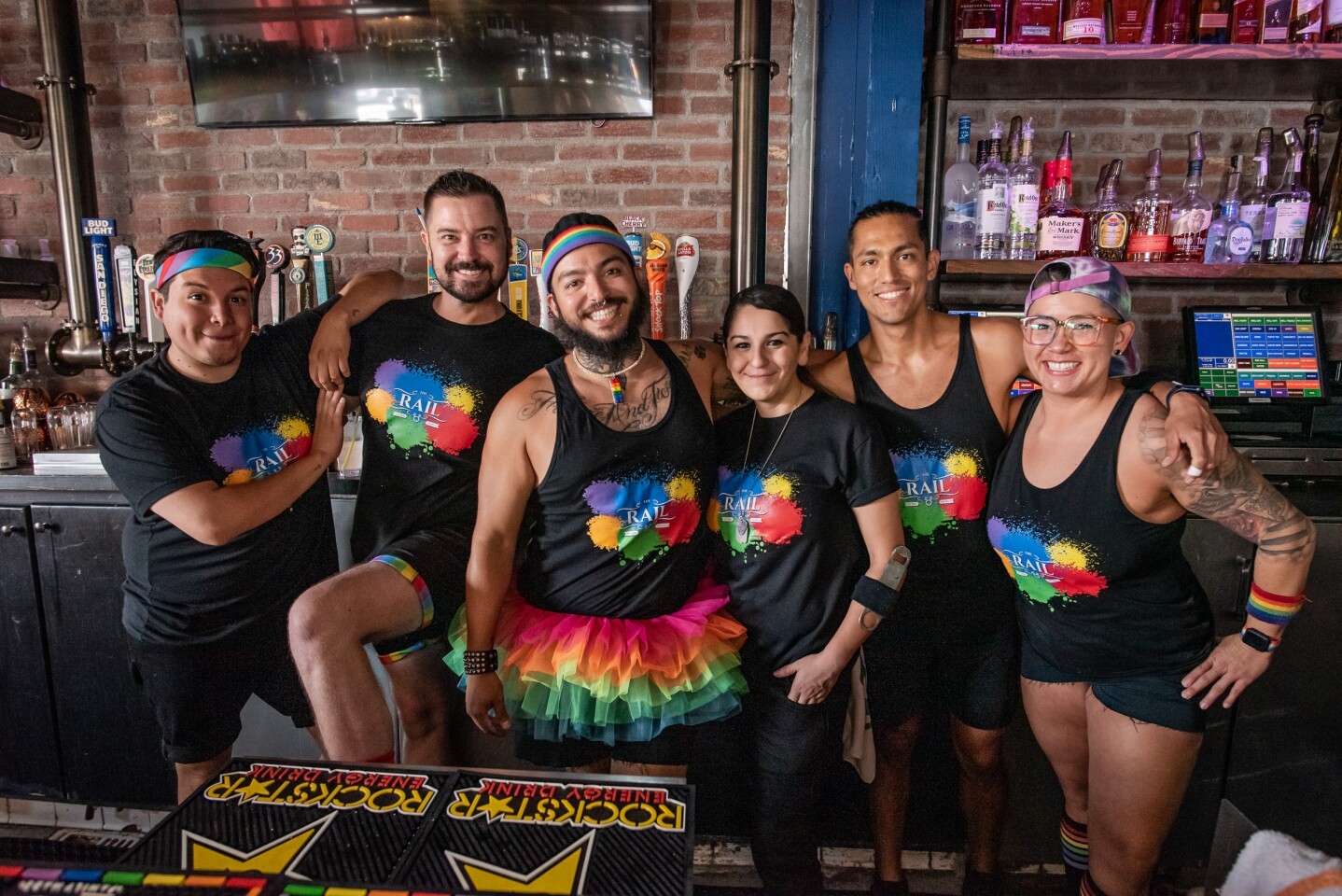 San Diego showed its colors and celebrated Pride at The Rail in Hillcrest on Saturday, July 17, 2021.