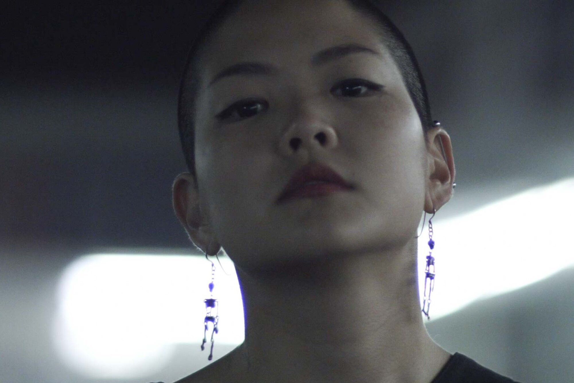 "Kyoko Takenaka, in the short film ""Home,"" looks directly into the camera."