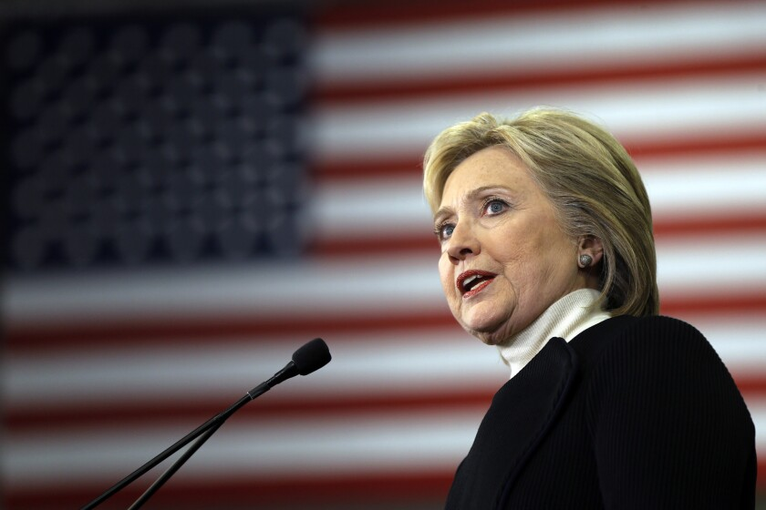 Hillary Clinton concedes defeat in the New Hampshire primary Tuesday night in Hooksett, N.H.