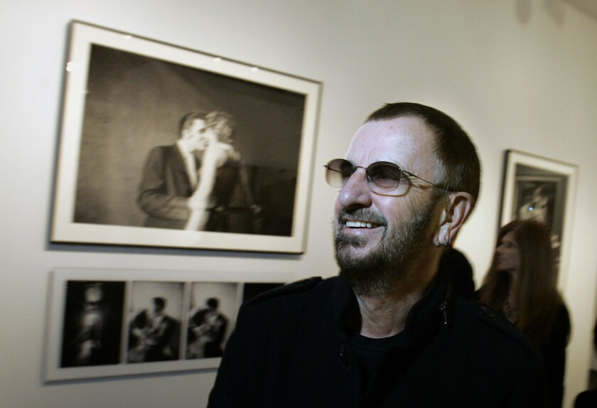 """Ringo Starr, photographed at the Grammy Museum in 2010, is the focus of a new exhibit, """"Ringo: Peace and Love,"""" opening at the museum June 12."""