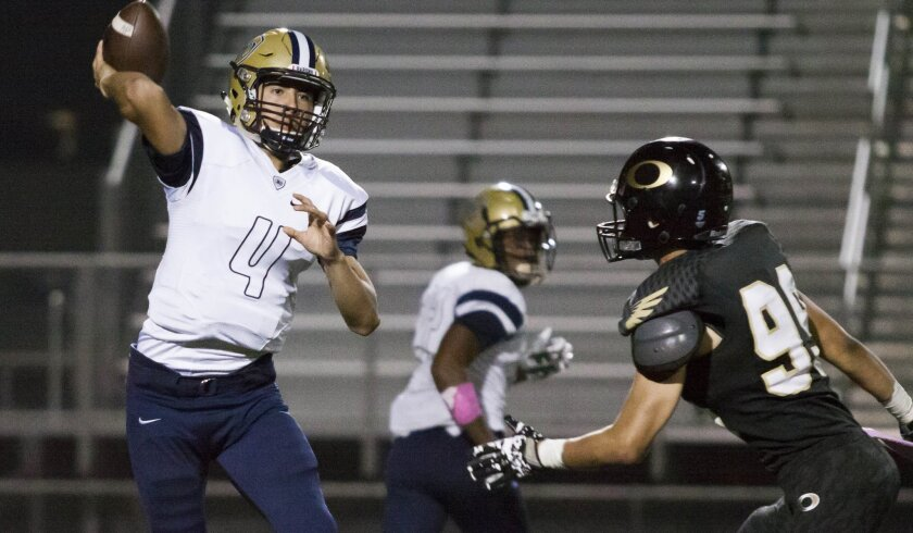 As a junior last season, Bonita Vista's Anthony Posada completed 135 of 225 passes for 2,269 yards and 15 TDs with just eight interceptions.