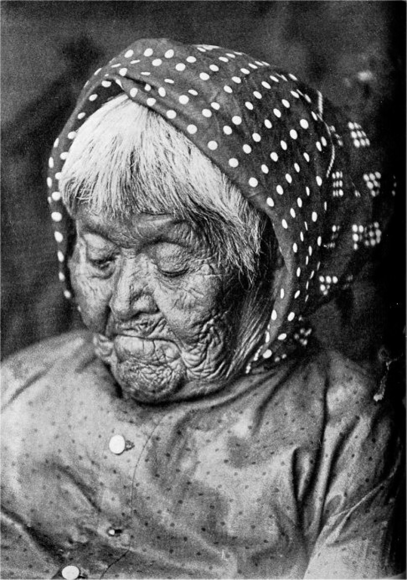 """A photograph of Totuya, """"Foaming Water,"""" granddaughter of Chief Tenaya and the last survivor of the"""