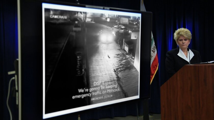 Then-San Diego District Attorney Bonnie Dumanis held a news conference in December 2015 that featured a security camera video of San Diego Police Officer Neal Browder shooting Fridoon Rawshan Nehad.