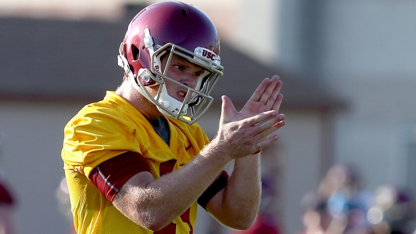 Sam Darnold is a redshirt freshman who is challenging Max Browne (not pictured) for the starting job.