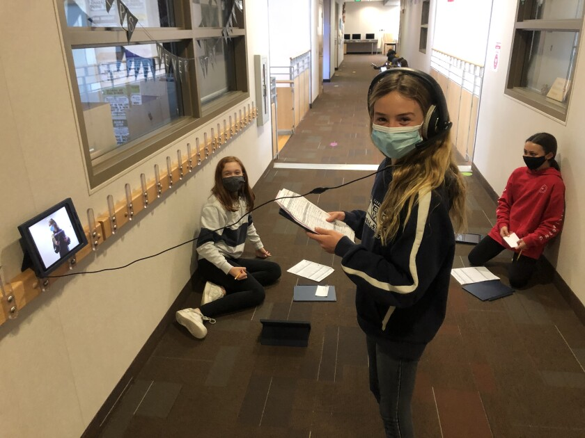 Solana Ranch sixth graders returned to four days a week school on Feb. 8.