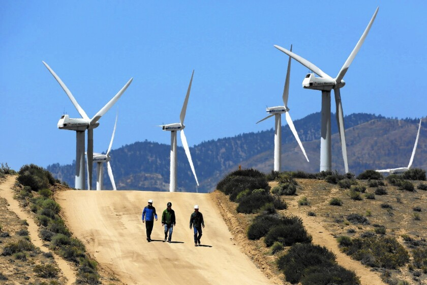 Wind farm in the Tehachapi Mountains