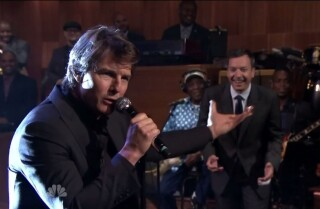 Tom Cruise and Jimmy Fallon do a lip sync battle on 'Tonight Show'