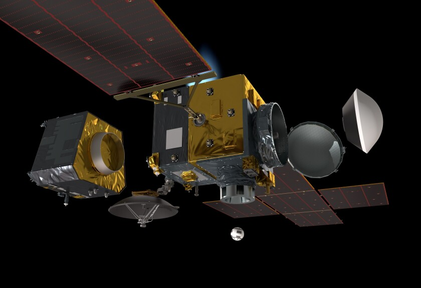 The Earth Return Orbiter collects the sample return pod