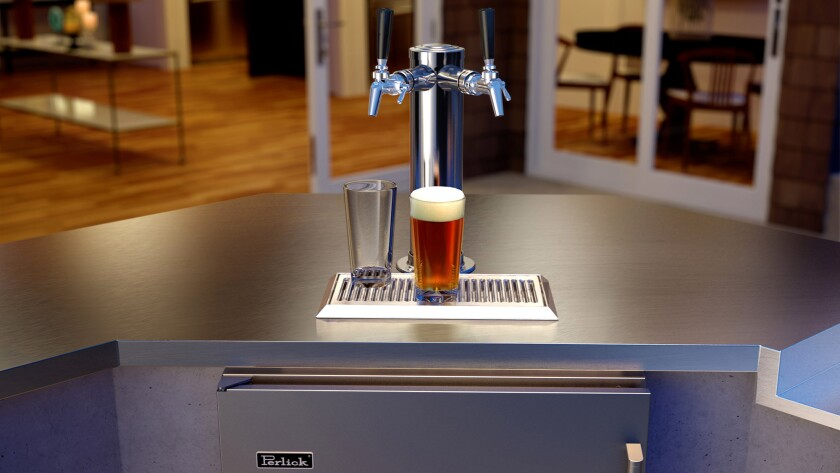 Perlick C-series outdoor double-faucet beer dispenser, $3,584, available at Kegerator World.
