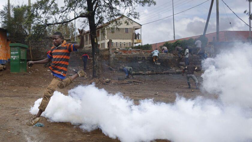 Kenya presidential elections re-run, Nairobi - 26 Oct 2017