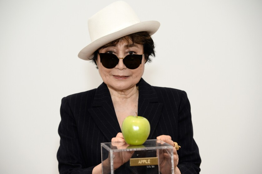 """Yoko Ono attends her """"One Woman Show"""" media preview at the Museum of Modern Art on May 12, 2015, in New York."""