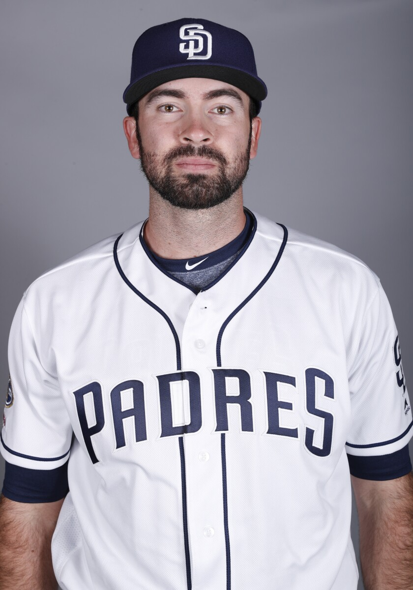 This is a 2019 photo of Jesse Scholtens of the San Diego Padres baseball team.