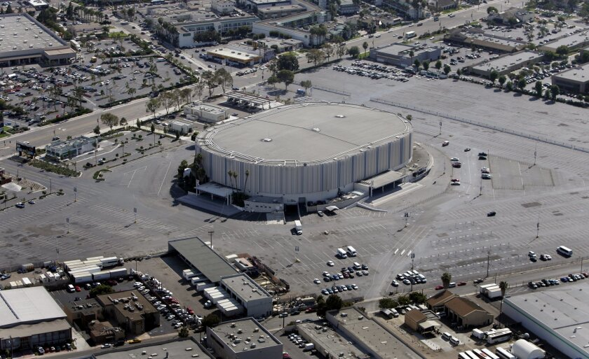 The San Diego Sports Arena before it was renamed the Valley View Casino Center.