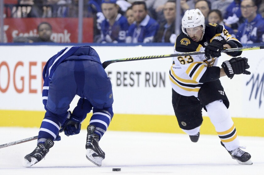 Marchand Helps Bruins Beat Maple Leafs 4 2 To Force Game 7 The San Diego Union Tribune