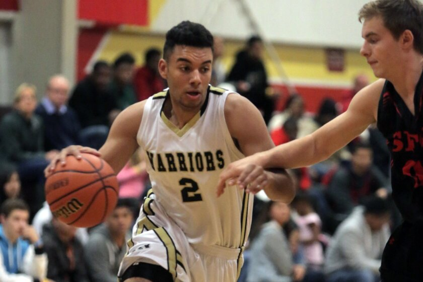 Army-Navy senior Caleb Morris (shown in an earlier game) led the Warriors with 18 points in Friday's win over El Camino.