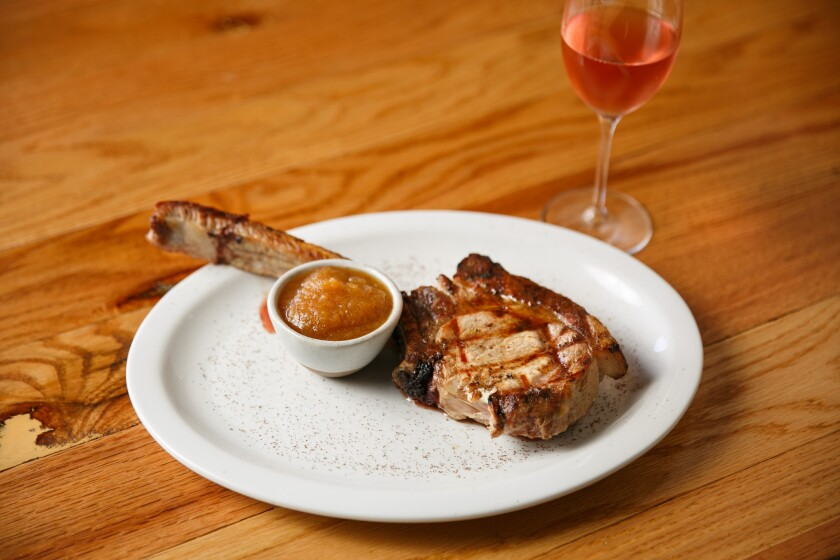 The pork chops at Salt's Cure restaurant may be the best in L.A.