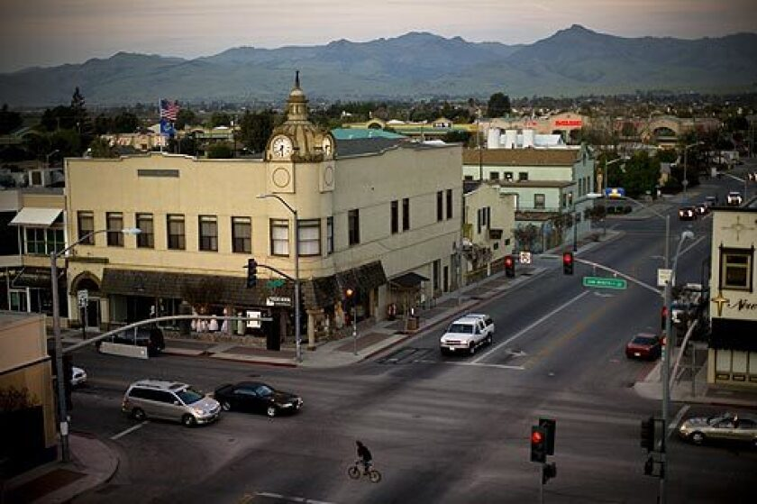 Hollister, Calif., is a quiet agricultural town northeast of Monterey, surrounded by farmland. It's a far cry from the imaginary beach town created by Abercrombie & Fitch for its line of surf-inspired clothing.
