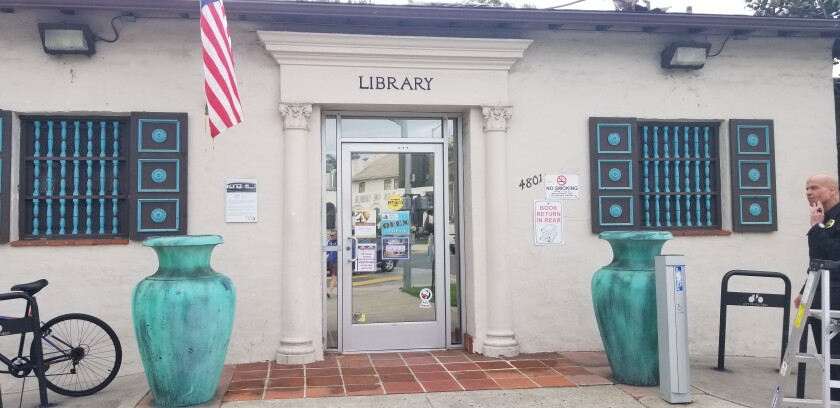 The Ocean Beach Library at 4801 Santa Monica Ave.