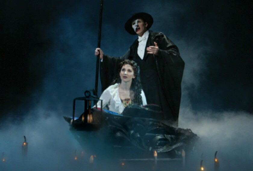"""""""The Phantom of the Opera,"""" by Andrew Lloyd Webber, has been running on Broadway since 1988."""