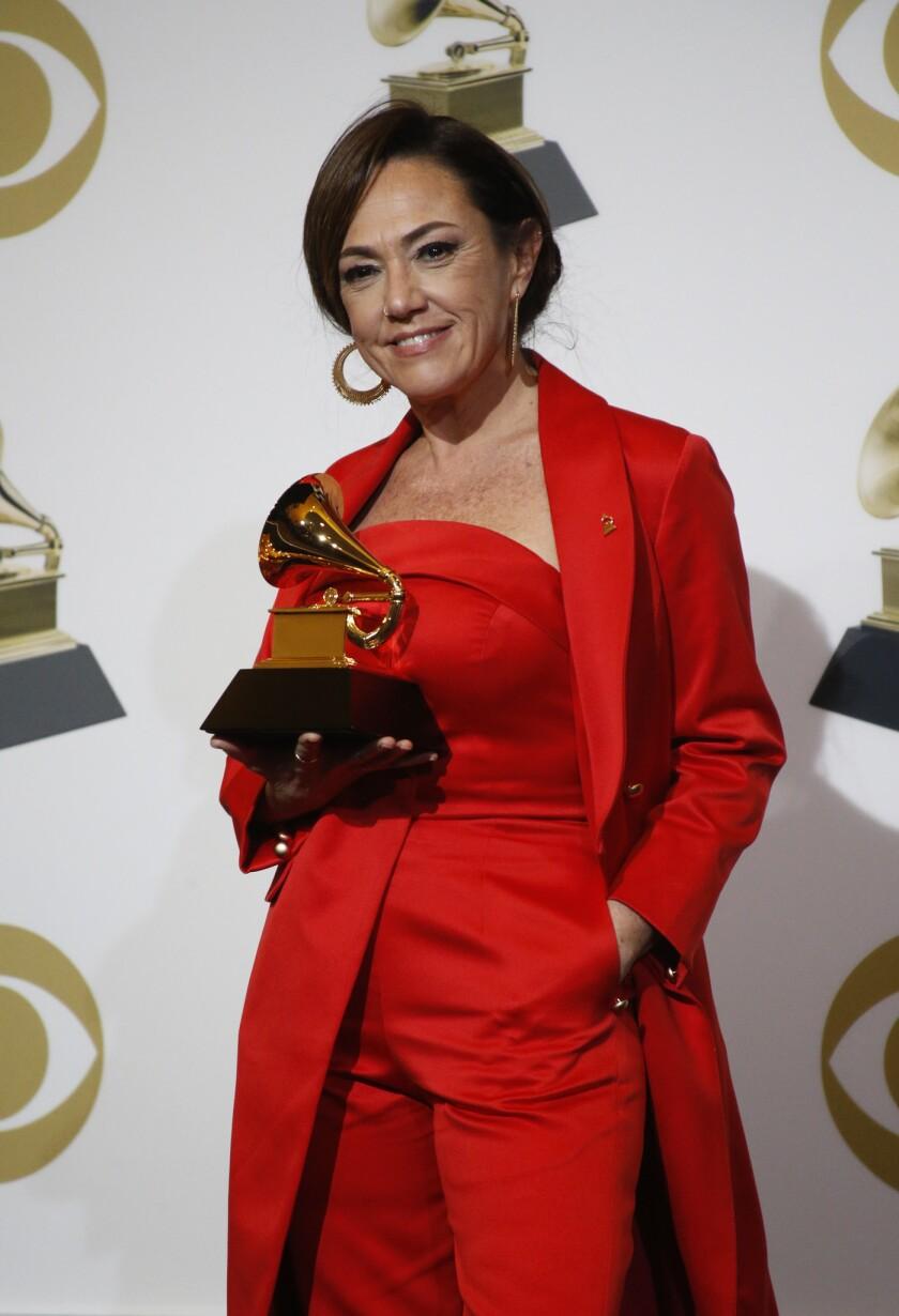 LOS ANGELES, CA - February 10, 2019 Best Latin Pop Album, Sincera, Claudia Brant backstage at the 61