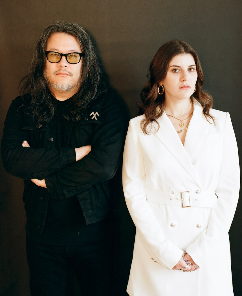 Best Coast's Bobb Bruno and Bethany Cosentino perform at the Novo on Friday, Feb. 28.