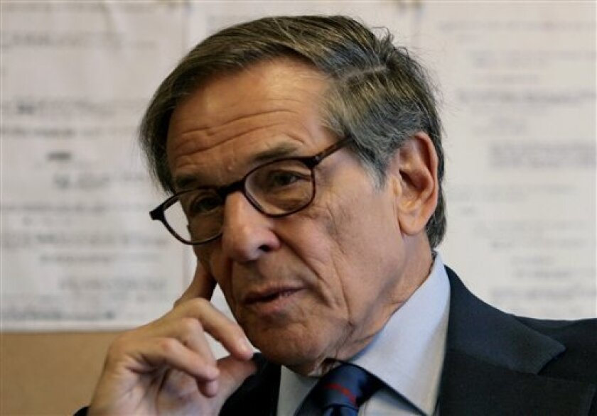 """FILE - In this Aug. 20, 2008 file photo, author and biographer Robert Allan Caro is shown during an interview in New York. Book publisher Knopf announced Tuesday, Nov. 1, 2011 that fourth volume in Robert A. Caro's award-winning and best-selling """"The Years of Lyndon Johnson"""" biography will be published next May. (AP Photo/Bebeto Matthews, file)"""