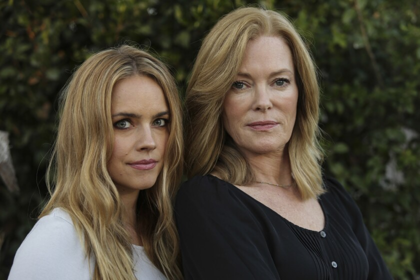 LOS ANGELES, CA -- WEDNESDAY, OCTOBER 24, 2018-- From left, Jessica Barth and Caitlin Dulaney have