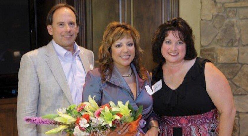 Hosts Eric and Diane Lekven with Kathy Carte (Photo: Jon Clark)