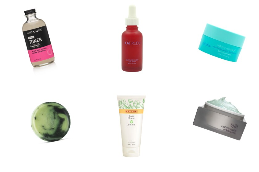 Skincare products aimed at sensitive skin and rosacea.