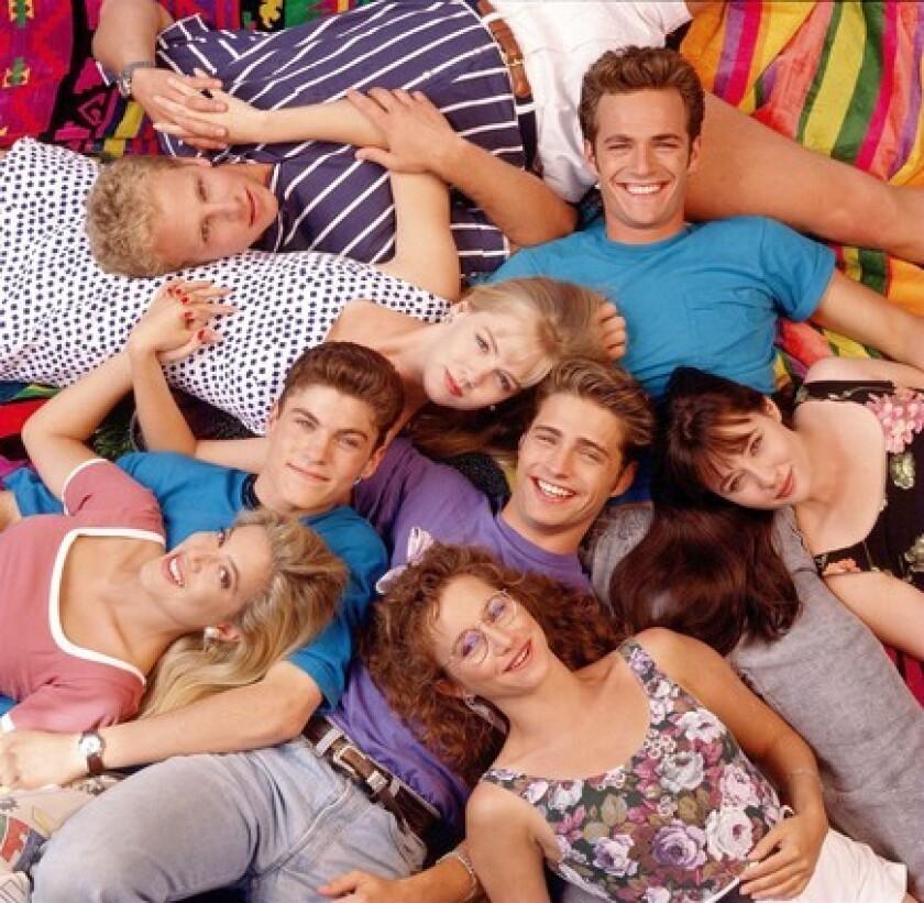 "The original cast of ""Beverly Hills, 90210"""