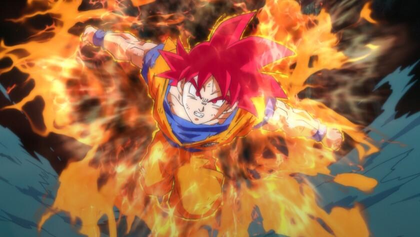 """Goku in the movie """"Dragon Ball Z: Battle of Gods."""""""
