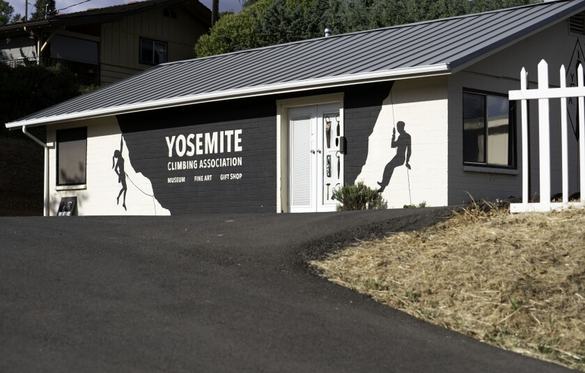 A photograph of a building that is the Yosemite Climbing Museum