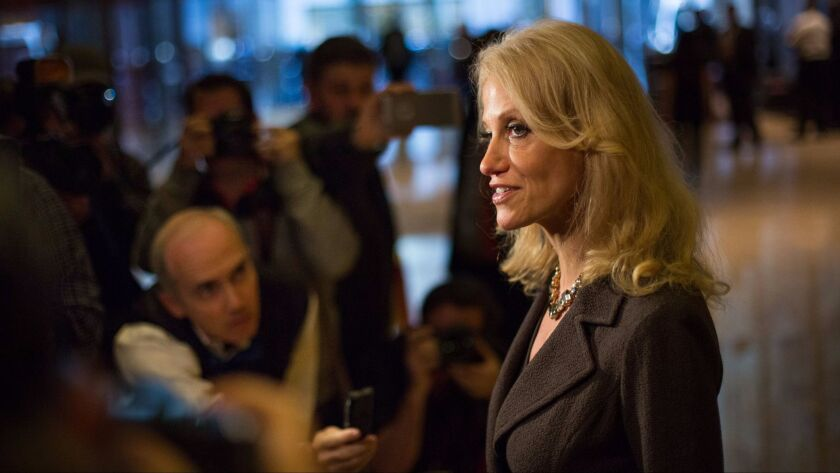 Kellyanne Conway, an advisor to President-elect Donald Trump, denied reports Wednesday that his administration's transition team was in turmoil.
