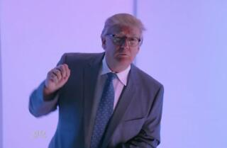 Donald Trump on 'SNL': Interrupted by Larry David, Parodies 'Hotline Bling'