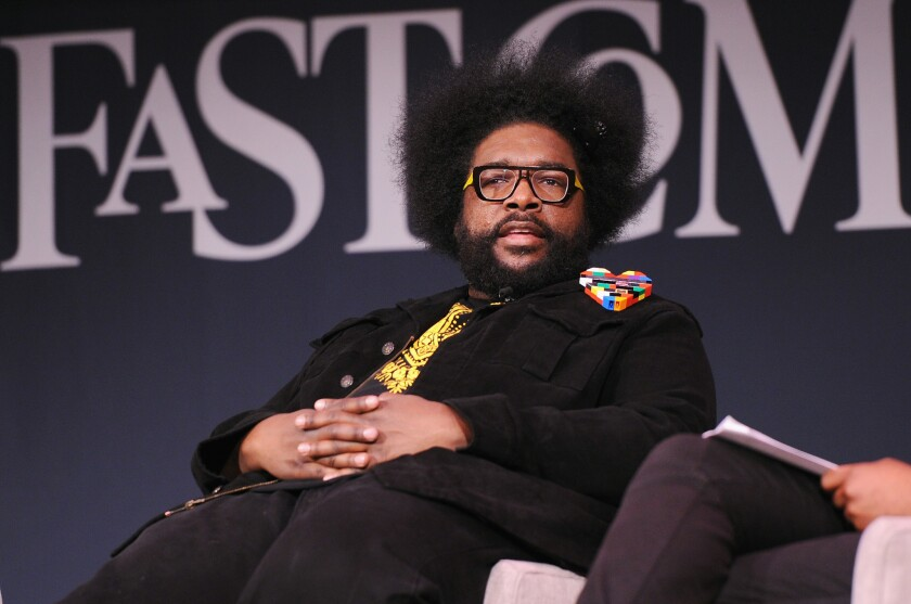 A lawsuit claiming that NBC and the Roots' Questlove (pictured) got two white cameramen fired was tossed by a Manhattan judge.