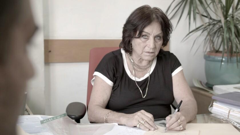 """Israeli lawyer Lea Tsemel in """"POV: Advocate"""" on PBS."""