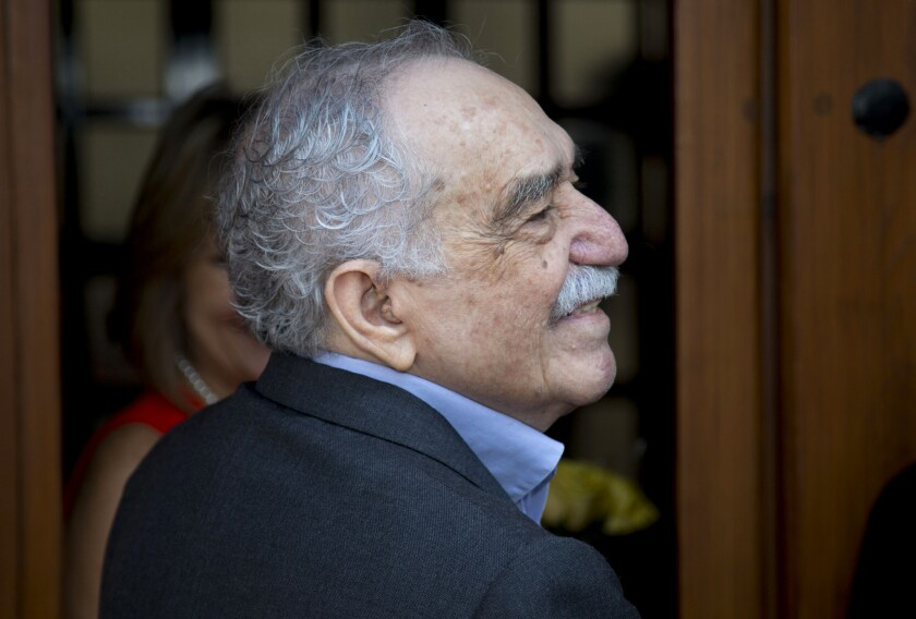 Gabriel Garcia Marquez on his 87th birthday in March. The Nobel Prize-winner was hospitalized Thursday in Mexico City.