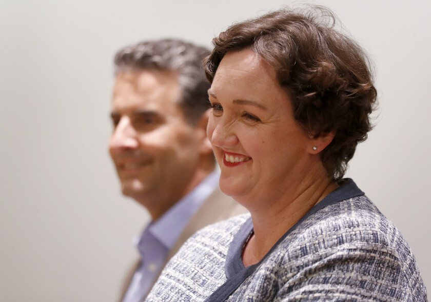 MISSION VIEJO, CALIF. - OCT. 9, 2018. Katie Porter, a Democratic candidate for the 45th Congressiona