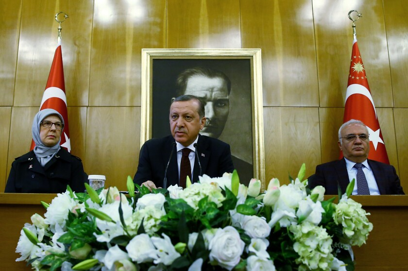 Undemocratic behavior diminishes Turkish leader's standing in the U.S., analysts say