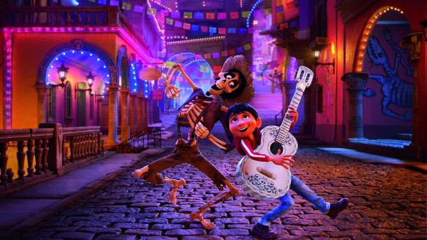 """(L-R) - Hector and Miguel in a scene from the movie """"Coco."""" In theaters on Nov. 22, 2017. Credit:"""