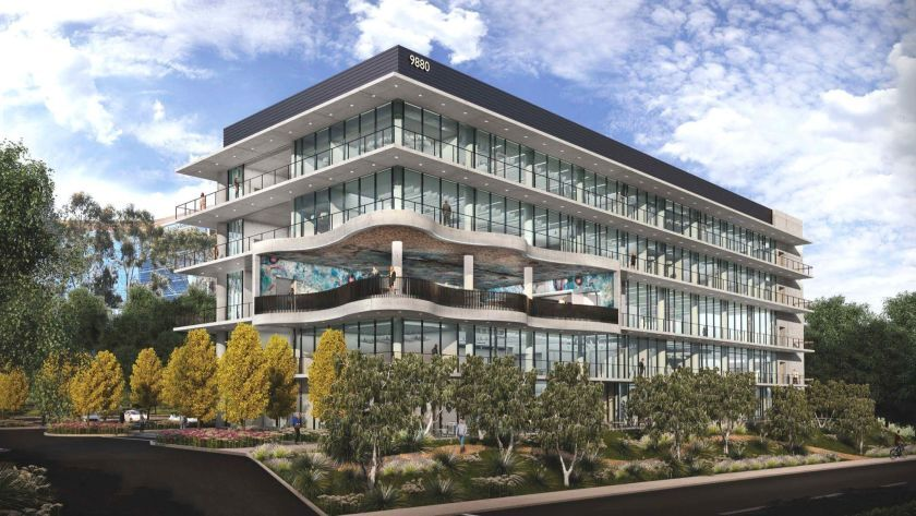 Rendering of the Alexandria GradLabs life science building where Element now has an office.