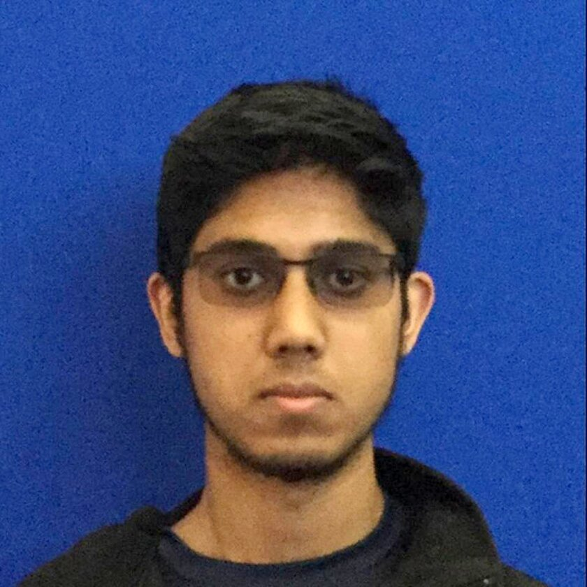 This undated photo provided by the University of California, Merced shows freshman Faisal Mohammad of Santa Clara, California.  Authorities say Mohammad burst into a classroom at the California school, stabbing several people before being shot and killed by police, Wednesday. (University of Califor