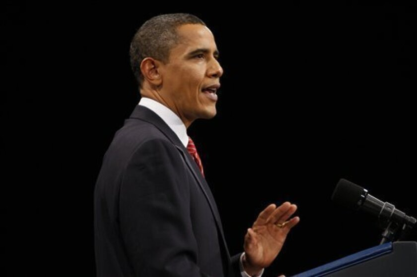 President Barack Obama speaks about the war in Afghanistan at the U.S. Military Academy at West Point, N.Y., Tuesday, Dec. 1, 2009. (AP Photo/Charles Dharapak)
