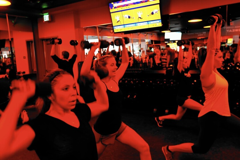 Class is in session at the Orangetheory Fitness branch in Santa Monica.